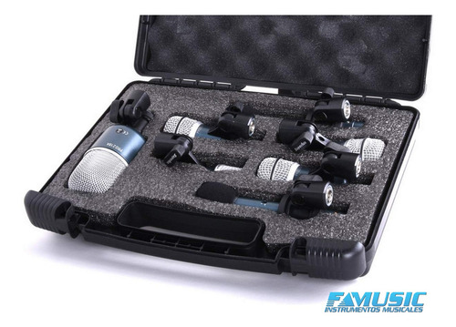 microfono p/ bateria superlux drk-b5 7 unidades profesional