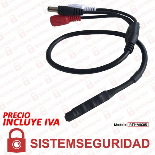 microfono para camaras de seguridad cctv alcance 8m teclam