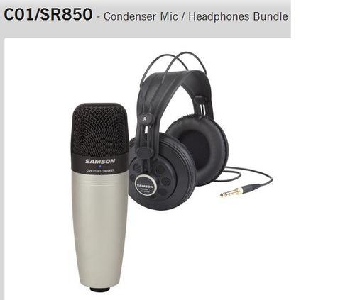 micrófono para estudio samson
