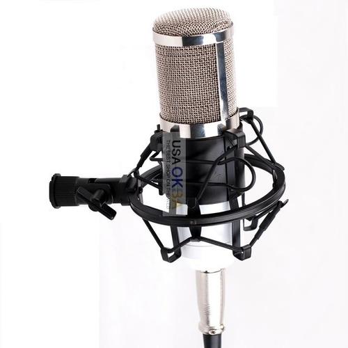 microfono para grabacion con phanton power interface