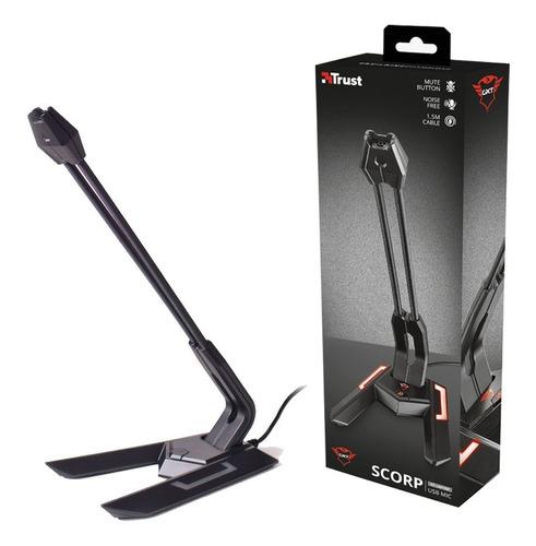 microfono para pc trust gxt210 scorp usb con base cable 1.5m
