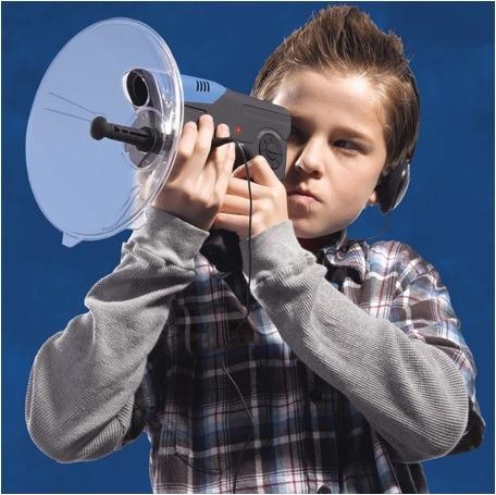micrófono parabólico espía oído biónico   sonido 300 pies