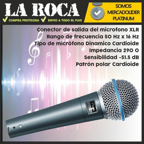 microfono parquer sn58b profesional dinamico funda y cable