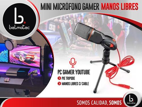 microfono pc gamer youtube pie podcast tripode 3.5m