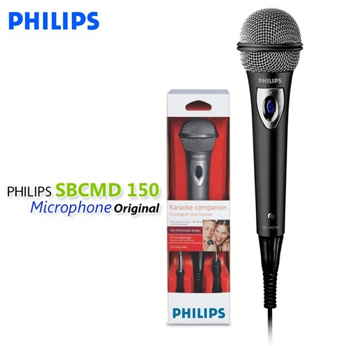 microfono philips sbcmd150/00 600ohm unidireccional cable 3m