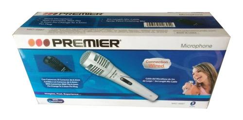 microfono premier alambrico cable para karaoke conferencias