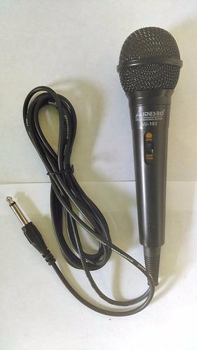 microfono profesional alambrico equipo audio audesb cable 3m