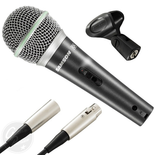 microfono profesional dinamico samson q6 + pipeta + cable