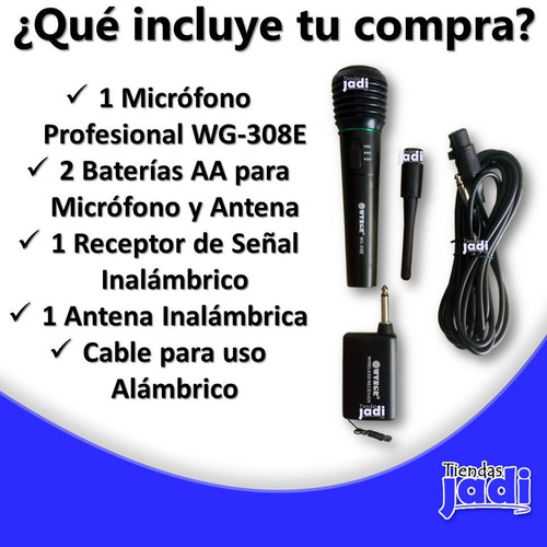 microfono profesional inalambrico o alambrico cable 3 mts sl