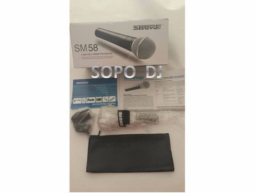 micrófono profesional marca shure sm58-lc. no incluye cable.