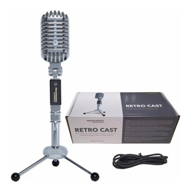 Microfono Profesional Retro Cast Usb Con Mini Trípode