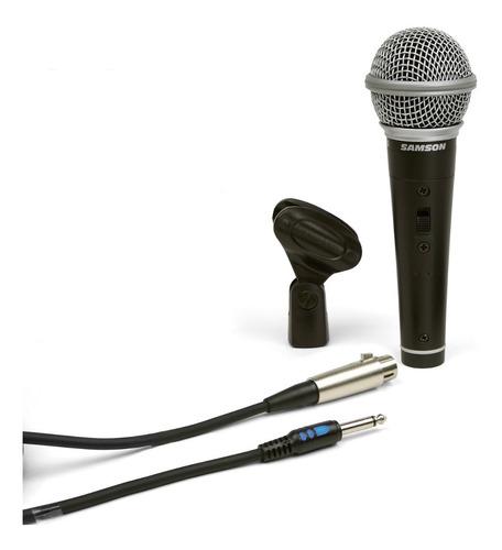 microfono samson scr21s dynamic w/switch - ideal karaoke