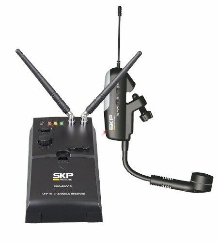 micrófono saxophone skp uhf-4000g- 101db