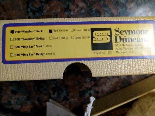 micrófono seymour duncan antiquity p90 soapbar neck nuevo