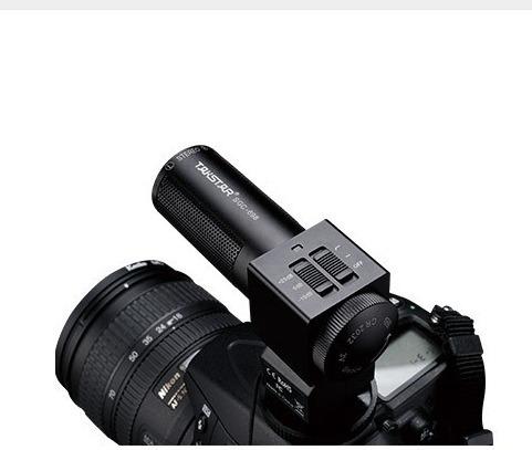 microfono shotgun stereo takstar sg698, para camara