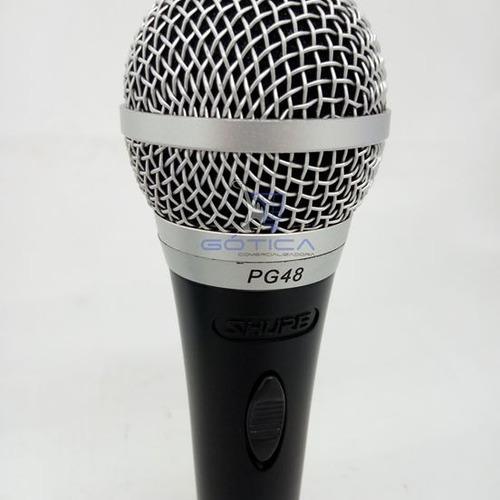micrófono shure alámbrico pg48