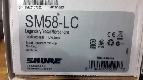 microfono shure de mano beta58 - sm58 dinamico super cardio