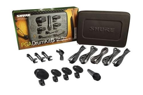microfono shure kit pgadrumkit 5 envio cuotas