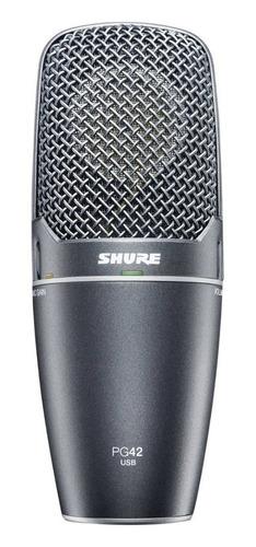 microfono shure pg42-usb condenser cardioide usb