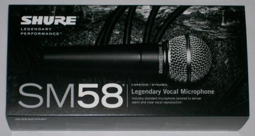 micrófono shure sm58 100% original garantía por escrito!