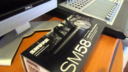 microfono shure sm58 cardioid/dinamico nuevo sellado