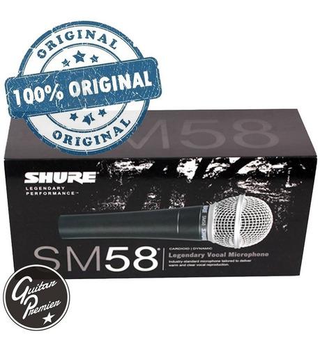 microfono shure sm58 + pipeta + funda original shure mexico