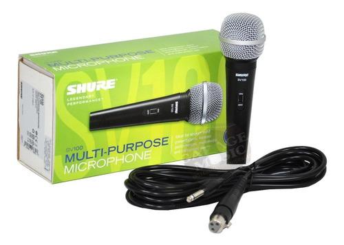 microfono shure sv100 original karaoke dinamico vocal cable