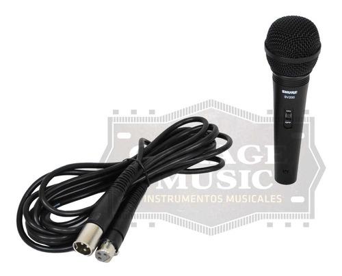 microfono shure sv200 original karaoke dinamico vocal cable