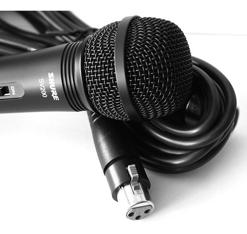 microfono shure sv200 vocal mano karaok estudi djs original