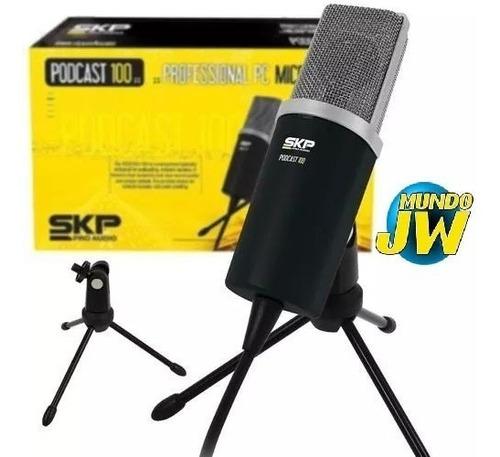 microfono skp condenser podcast 100 locucion youtube nuevo