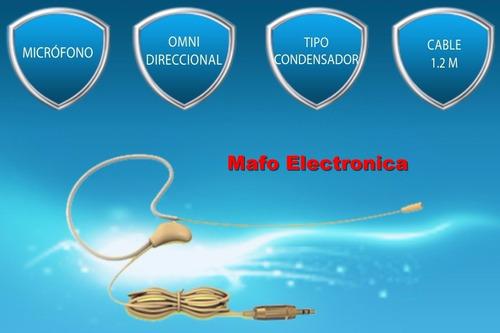 micrófono skp hsp 2 headset condenser color piel tv teatro