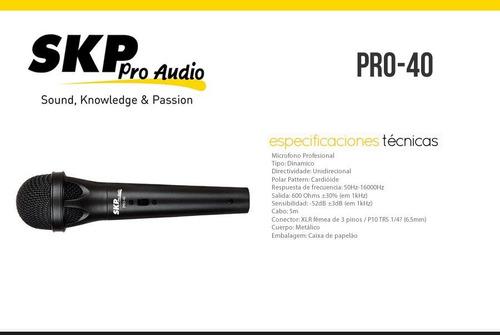 microfono skp pro40-escar