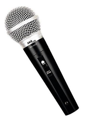 microfono skp pro58 dinamico vocal de mano cable 5 metros