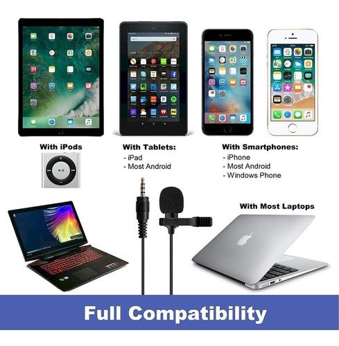micrófono solapa lavalier clip celulares calidad profesional