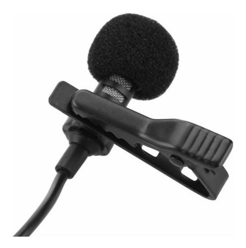 micrófono solapa lavalier smartphone celular clip video 3.5m