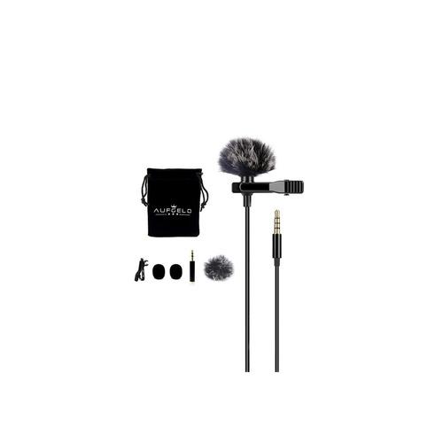 micrófono solapa para celular iphone android camara + filtro