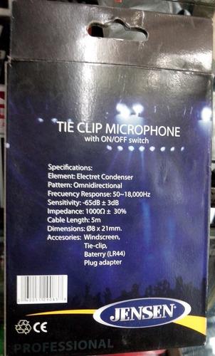 microfono solapero lavalier corbatero clip condensador entre