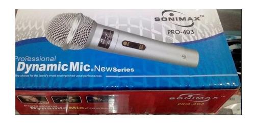 microfono sonimax pro-403 cable 3 mts profesional