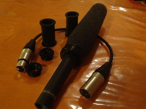micrófono sony ecm-680s para camaras semi y profesionales