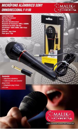 microfono sony fv100 omnidireccional plug 3.5mm con adaptado