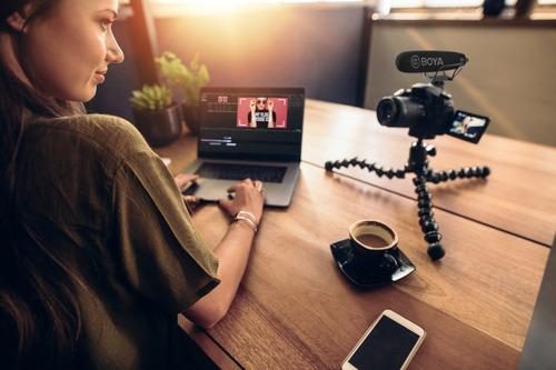 microfono super cardioide boya  video dslr samrtphone bm2021