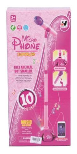 micrófono superlor pilas para niña caja