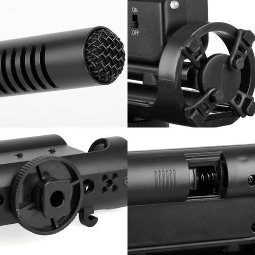 micrófono takstar sgc-598 para cámaras canon nikon