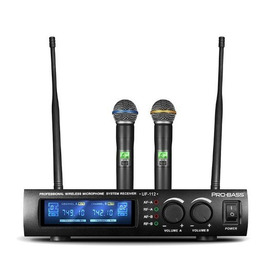Microfono Uhf Doble De Mano Probass Uf-112 / Abregoaudio
