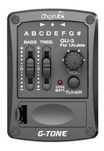 microfono ukelele activo con afinador cherub gu-3