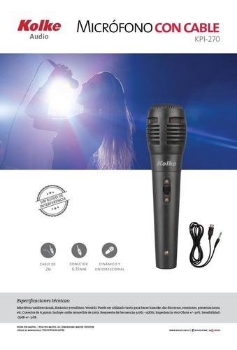 microfono universal karaoke cable 2 m para parlante dinamico