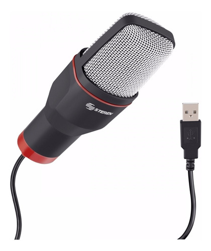 microfono usb de condensador para computadora mic-550