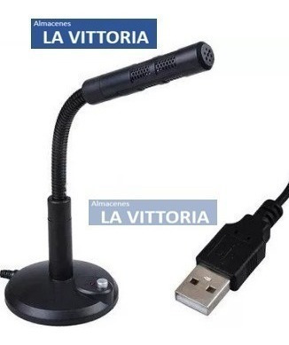 microfono usb flexible pc laptop con soporte