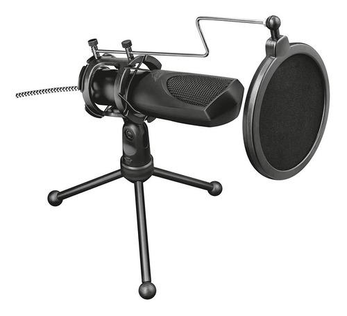 micrófono usb para streaming, trust gxt 232 mantis + trípode