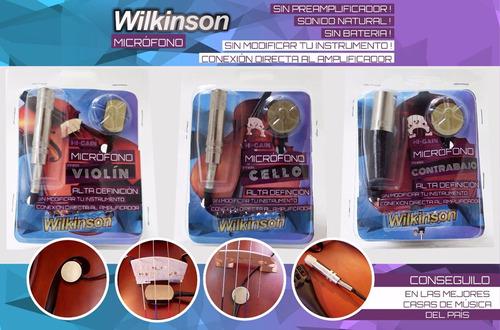 microfono violoncello wilkinson profesional alta definicion